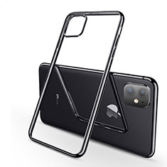 Funda Silicona Ultrafina Carcasa Transparente H03 para Apple iPhone 11 Negro