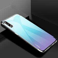 Funda Silicona Ultrafina Carcasa Transparente H03 para Huawei Enjoy 10 Plata