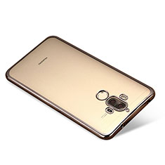 Funda Silicona Ultrafina Carcasa Transparente H03 para Huawei Mate 9 Negro