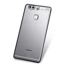 Funda Silicona Ultrafina Carcasa Transparente H03 para Huawei P9 Gris