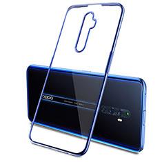 Funda Silicona Ultrafina Carcasa Transparente H03 para Oppo Reno2 Z Azul