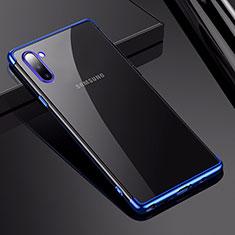 Funda Silicona Ultrafina Carcasa Transparente H03 para Samsung Galaxy Note 10 5G Azul