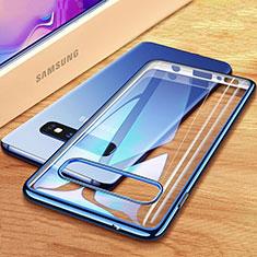 Funda Silicona Ultrafina Carcasa Transparente H03 para Samsung Galaxy S10 Plus Azul