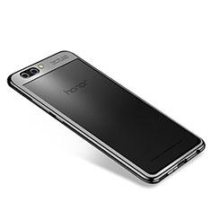 Funda Silicona Ultrafina Carcasa Transparente H04 para Huawei Honor View 10 Negro