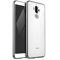 Funda Silicona Ultrafina Carcasa Transparente H04 para Huawei Mate 9 Plata