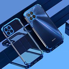 Funda Silicona Ultrafina Carcasa Transparente H04 para Huawei Nova 8 SE 5G Azul