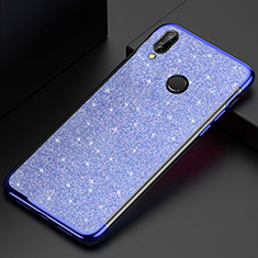 Funda Silicona Ultrafina Carcasa Transparente H04 para Huawei P20 Lite Azul