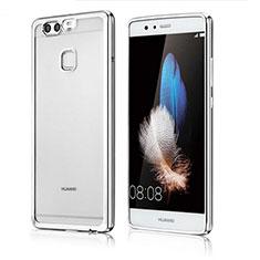 Funda Silicona Ultrafina Carcasa Transparente H04 para Huawei P9 Plata