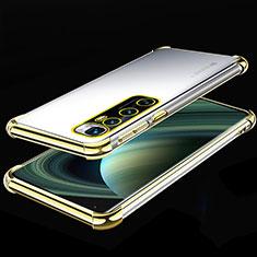 Funda Silicona Ultrafina Carcasa Transparente H04 para Xiaomi Mi 10 Ultra Oro