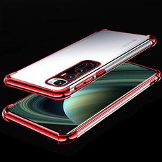 Funda Silicona Ultrafina Carcasa Transparente H04 para Xiaomi Mi 10 Ultra Rojo