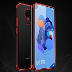 Funda Silicona Ultrafina Carcasa Transparente H06 para Huawei Mate 30 Lite Rojo