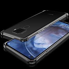 Funda Silicona Ultrafina Carcasa Transparente H07 para Huawei Mate 30 Lite Negro