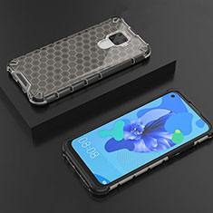 Funda Silicona Ultrafina Carcasa Transparente H08 para Huawei Mate 30 Lite Negro