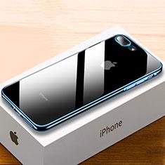 Funda Silicona Ultrafina Carcasa Transparente HC02 para Apple iPhone 8 Plus Azul