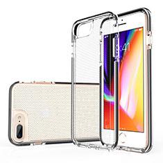 Funda Silicona Ultrafina Carcasa Transparente HT01 para Apple iPhone 8 Plus Negro