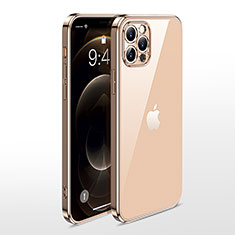 Funda Silicona Ultrafina Carcasa Transparente N01 para Apple iPhone 12 Pro Oro