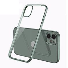 Funda Silicona Ultrafina Carcasa Transparente N01 para Apple iPhone 12 Verde Noche