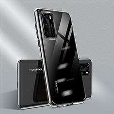 Funda Silicona Ultrafina Carcasa Transparente N01 para Huawei P40 Negro