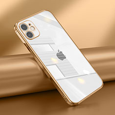 Funda Silicona Ultrafina Carcasa Transparente N02 para Apple iPhone 12 Mini Oro
