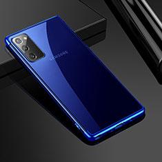 Funda Silicona Ultrafina Carcasa Transparente N03 para Samsung Galaxy Note 20 5G Azul