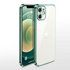Funda Silicona Ultrafina Carcasa Transparente N04 para Apple iPhone 12 Verde