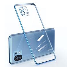 Funda Silicona Ultrafina Carcasa Transparente para Xiaomi Mi 11 5G Azul