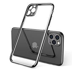 Funda Silicona Ultrafina Carcasa Transparente S01 para Apple iPhone 11 Pro Max Negro