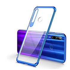 Funda Silicona Ultrafina Carcasa Transparente S01 para Huawei Honor 20 Lite Azul