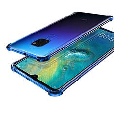 Funda Silicona Ultrafina Carcasa Transparente S01 para Huawei Mate 20 Azul