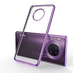 Funda Silicona Ultrafina Carcasa Transparente S01 para Huawei Mate 30 5G Morado