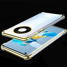 Funda Silicona Ultrafina Carcasa Transparente S01 para Huawei Mate 40 Oro