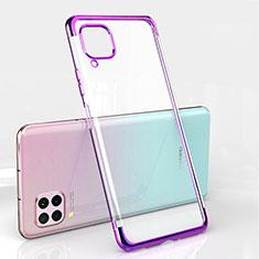 Funda Silicona Ultrafina Carcasa Transparente S01 para Huawei Nova 6 SE Morado