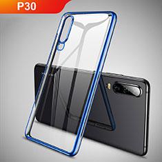 Funda Silicona Ultrafina Carcasa Transparente S01 para Huawei P30 Azul