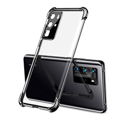 Funda Silicona Ultrafina Carcasa Transparente S01 para Huawei P40 Pro Negro