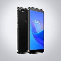 Funda Silicona Ultrafina Carcasa Transparente S01 para Huawei Y5 Prime (2018) Negro