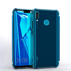 Funda Silicona Ultrafina Carcasa Transparente S01 para Huawei Y9 (2019) Azul