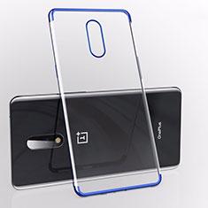 Funda Silicona Ultrafina Carcasa Transparente S01 para OnePlus 7 Azul