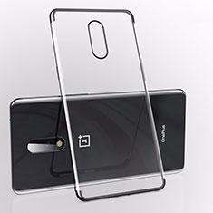 Funda Silicona Ultrafina Carcasa Transparente S01 para OnePlus 7 Negro