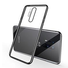 Funda Silicona Ultrafina Carcasa Transparente S01 para OnePlus 8 Pro Negro