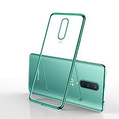 Funda Silicona Ultrafina Carcasa Transparente S01 para OnePlus 8 Verde