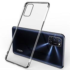 Funda Silicona Ultrafina Carcasa Transparente S01 para Oppo A72 Negro