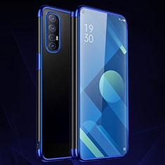 Funda Silicona Ultrafina Carcasa Transparente S01 para Oppo Find X2 Neo Azul