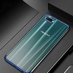 Funda Silicona Ultrafina Carcasa Transparente S01 para Oppo K1 Azul