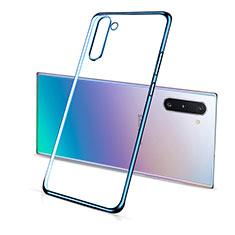 Funda Silicona Ultrafina Carcasa Transparente S01 para Samsung Galaxy Note 10 5G Azul