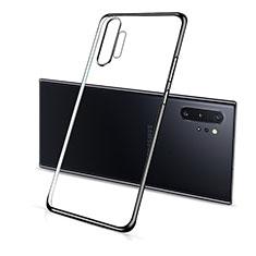 Funda Silicona Ultrafina Carcasa Transparente S01 para Samsung Galaxy Note 10 Plus 5G Negro