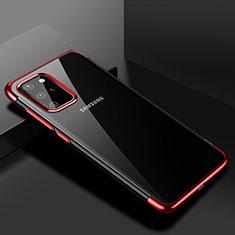 Funda Silicona Ultrafina Carcasa Transparente S01 para Samsung Galaxy S20 Plus Rojo