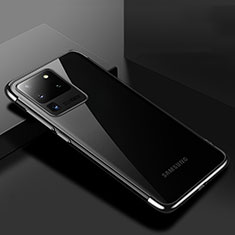 Funda Silicona Ultrafina Carcasa Transparente S01 para Samsung Galaxy S20 Ultra 5G Negro