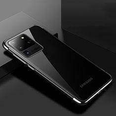 Funda Silicona Ultrafina Carcasa Transparente S01 para Samsung Galaxy S20 Ultra Negro