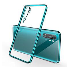 Funda Silicona Ultrafina Carcasa Transparente S01 para Xiaomi Mi Note 10 Pro Cian