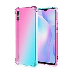 Funda Silicona Ultrafina Carcasa Transparente S01 para Xiaomi Redmi 9i Rosa